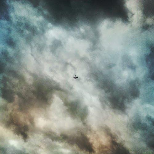 Free stock photo of airplane, flight, storm