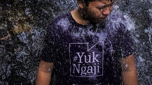 Photos gratuites de éclaboussure, jeune homme asiatique, musulman