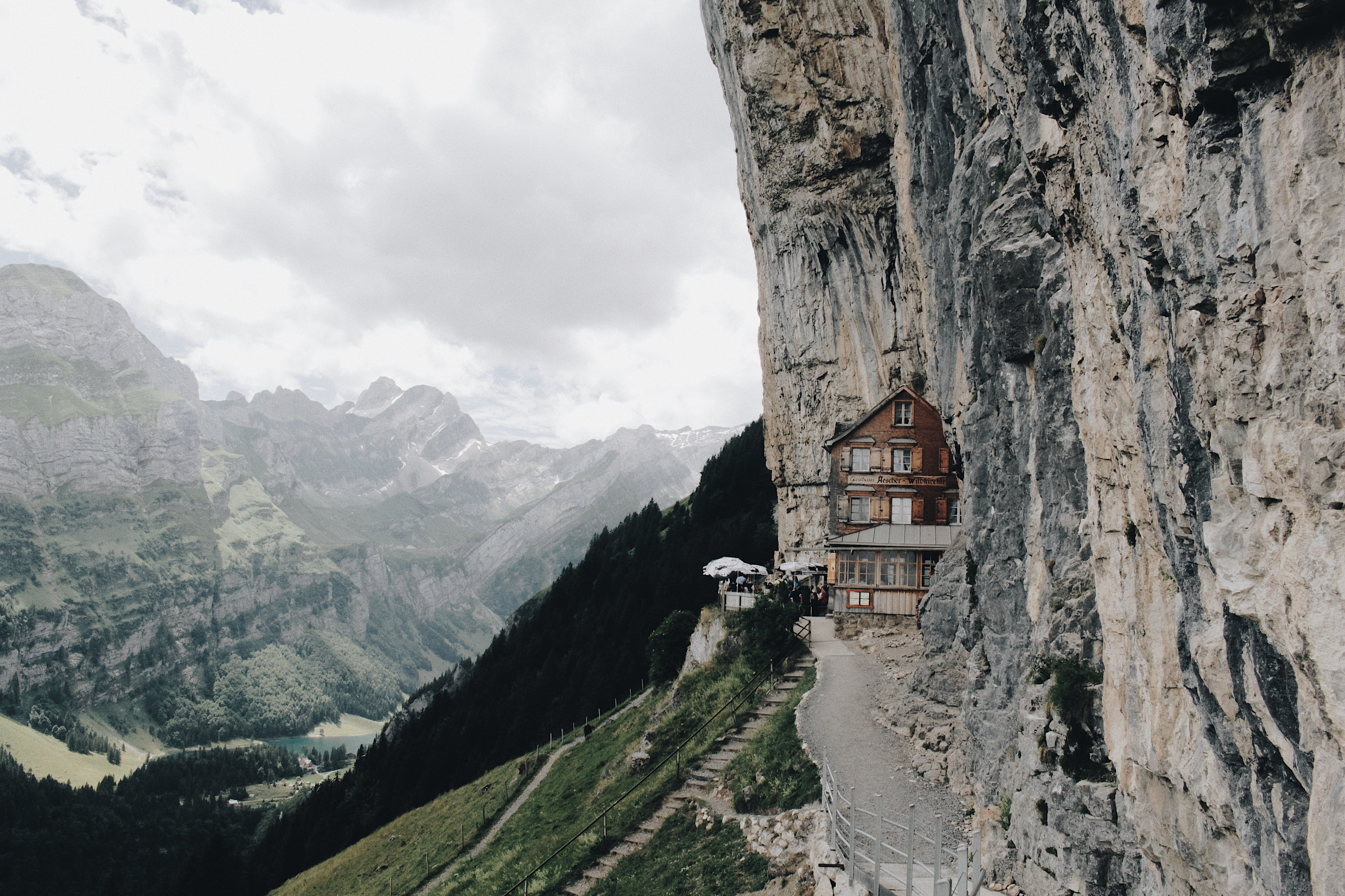 restaurant on mountain side