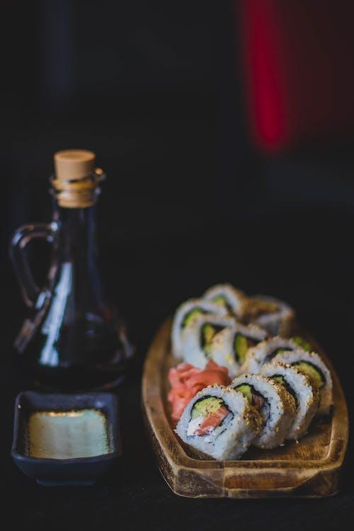 delikat, drikke, fisk