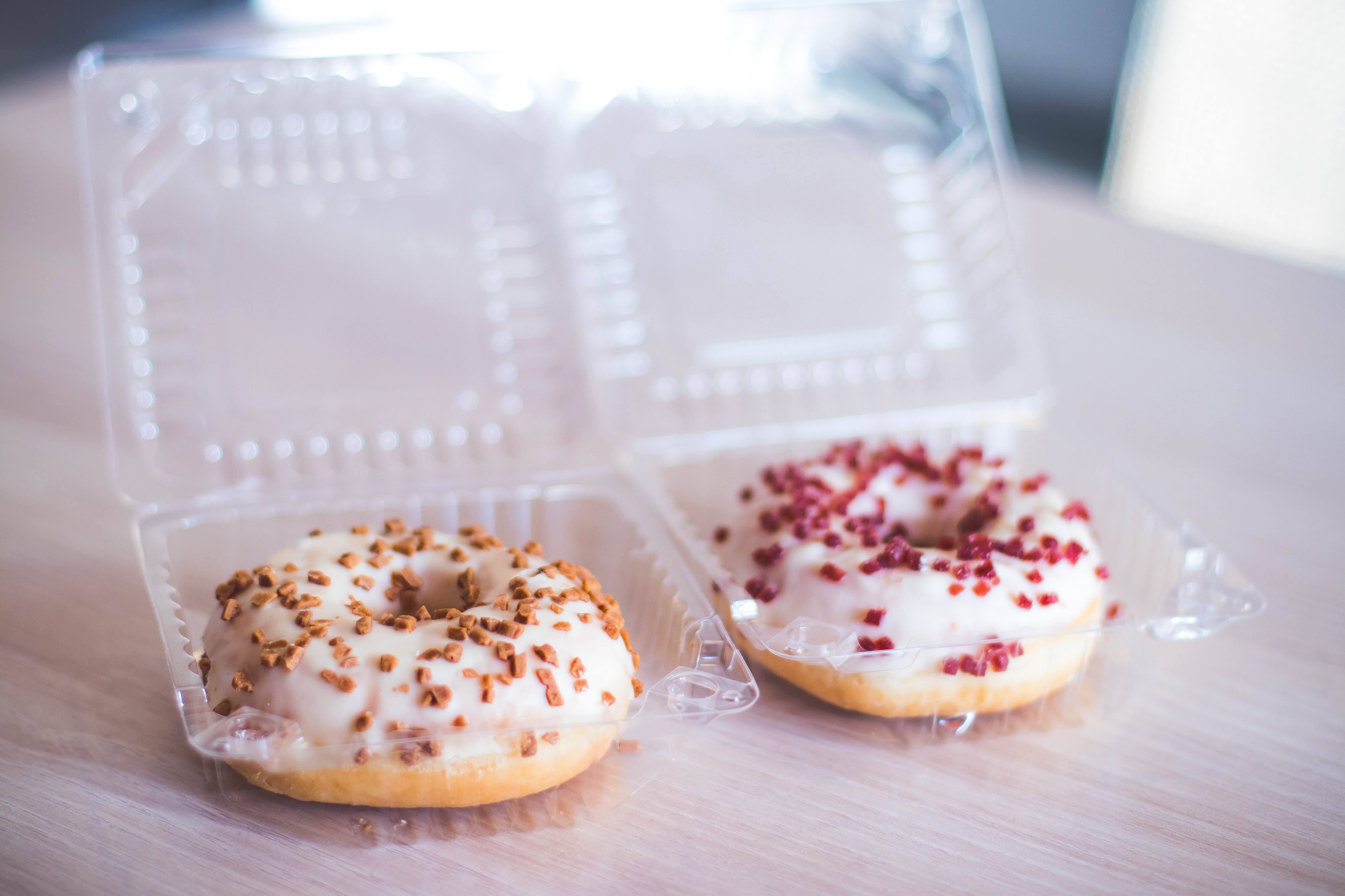 Two Donuts in Clear Plastic Packs