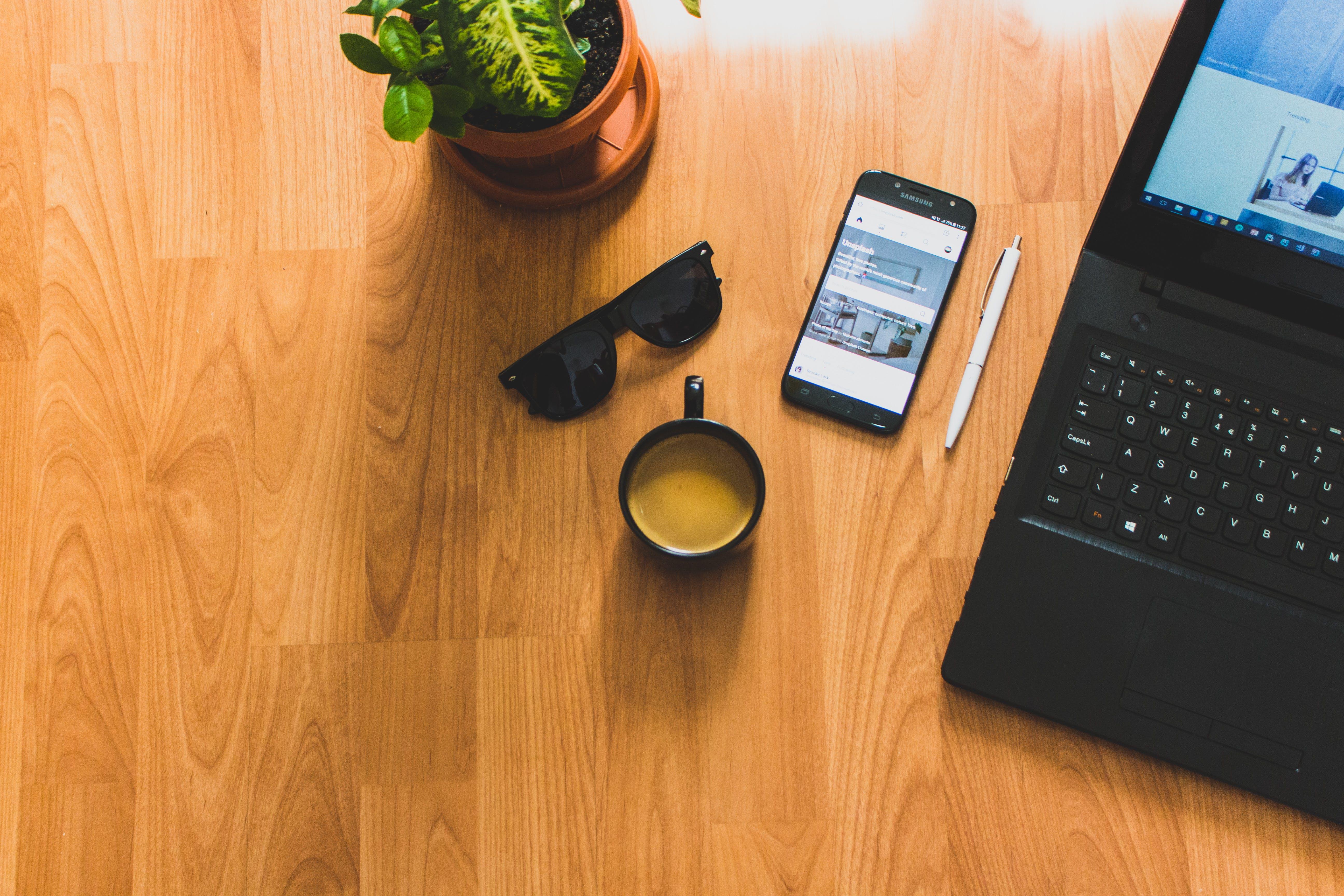 biurko, drewniany, internet
