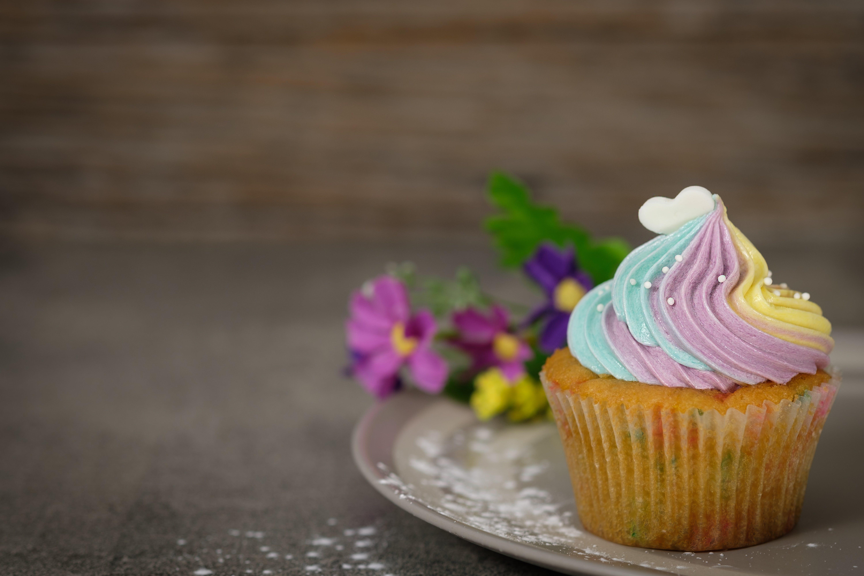Kostenloses Stock Foto zu bild, blume, cupcake, köstlich
