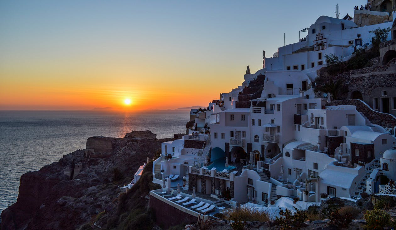 View of Santorini at Greece