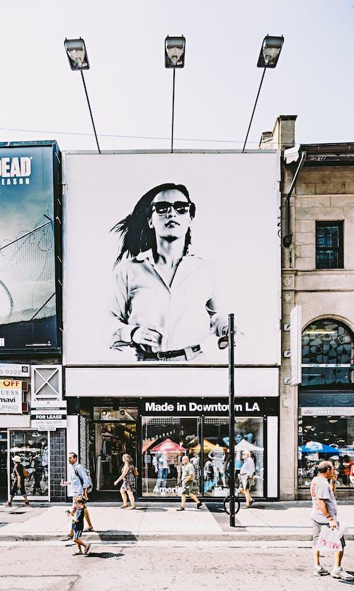 Základová fotografie zdarma na téma akcie, architektura, billboard, budova