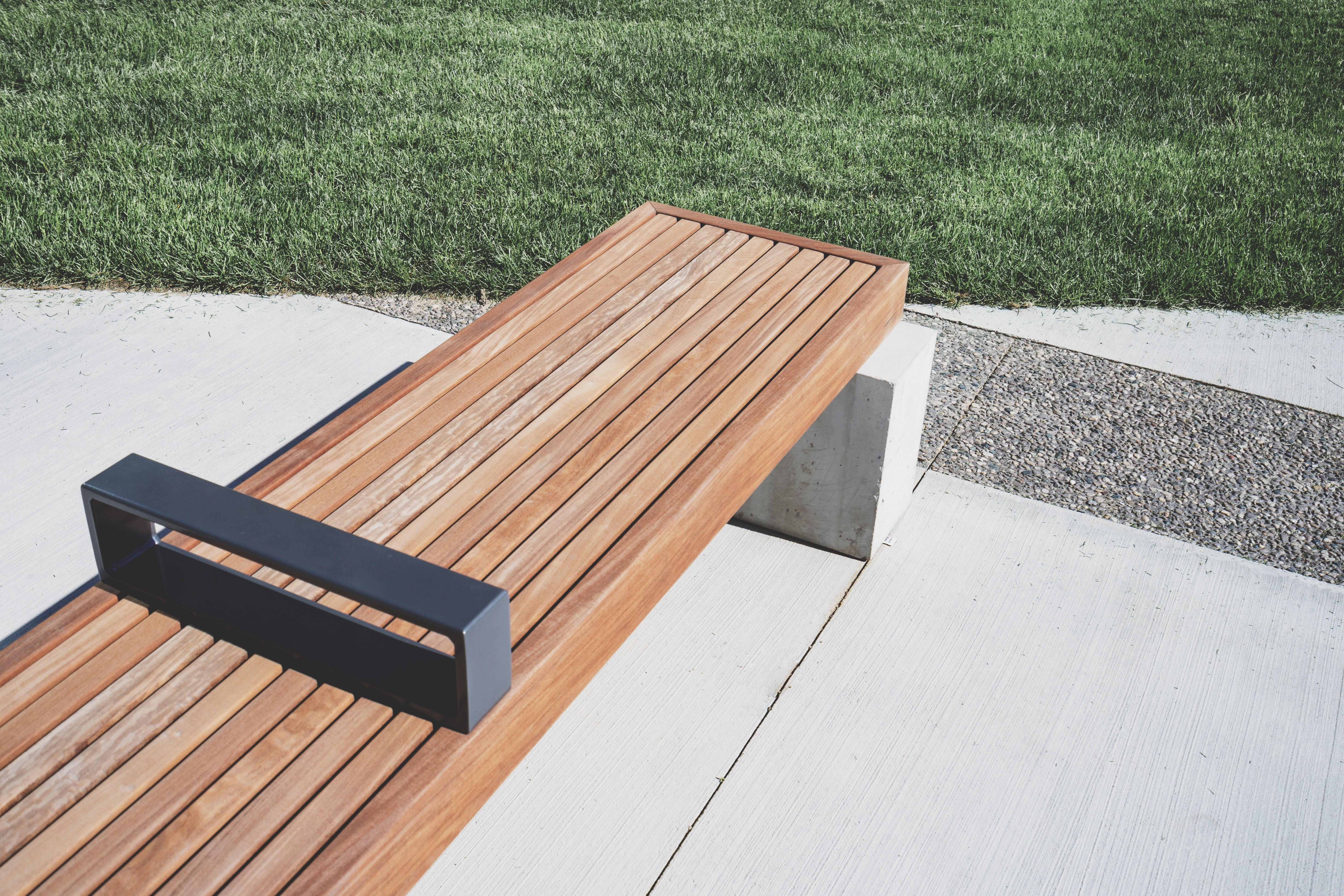 Photo of Wooden Bench near Grass