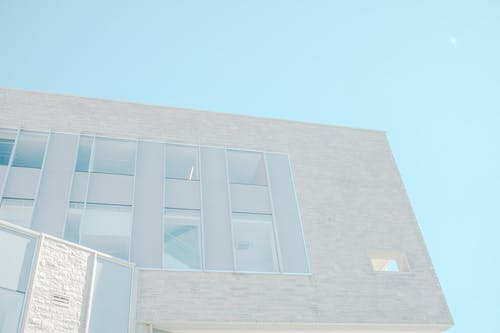 Fotografi Mata Cacing Pada Bangunan Beton Abu Abu