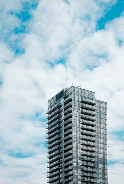 High Angle Photo of Gray High Rise Building