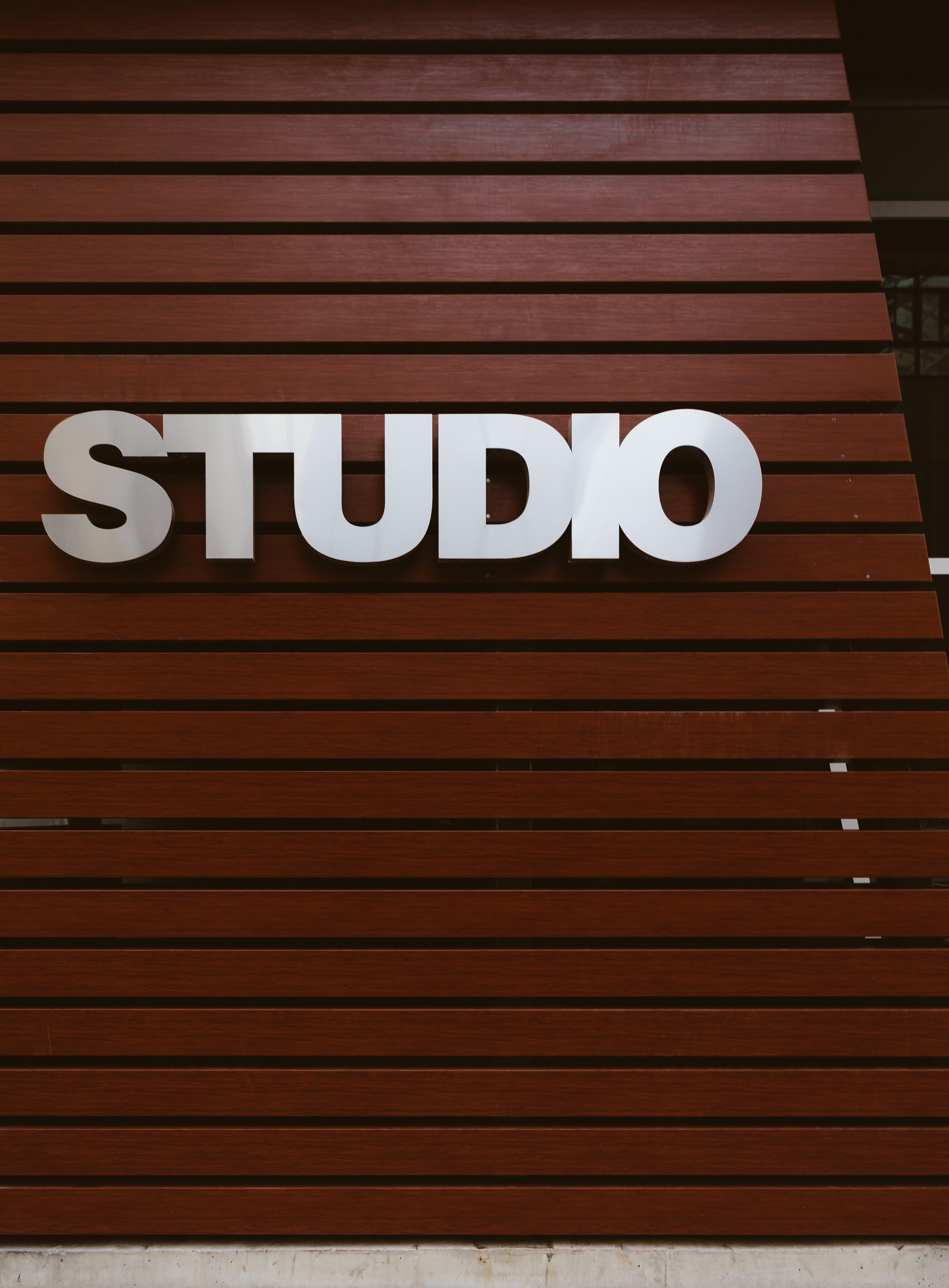 White Studio Signage