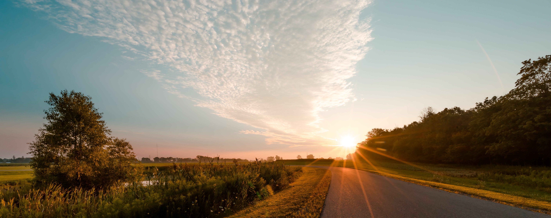 Photo of Road during Sunrise