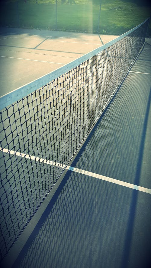 White Tennis Net on a Ground