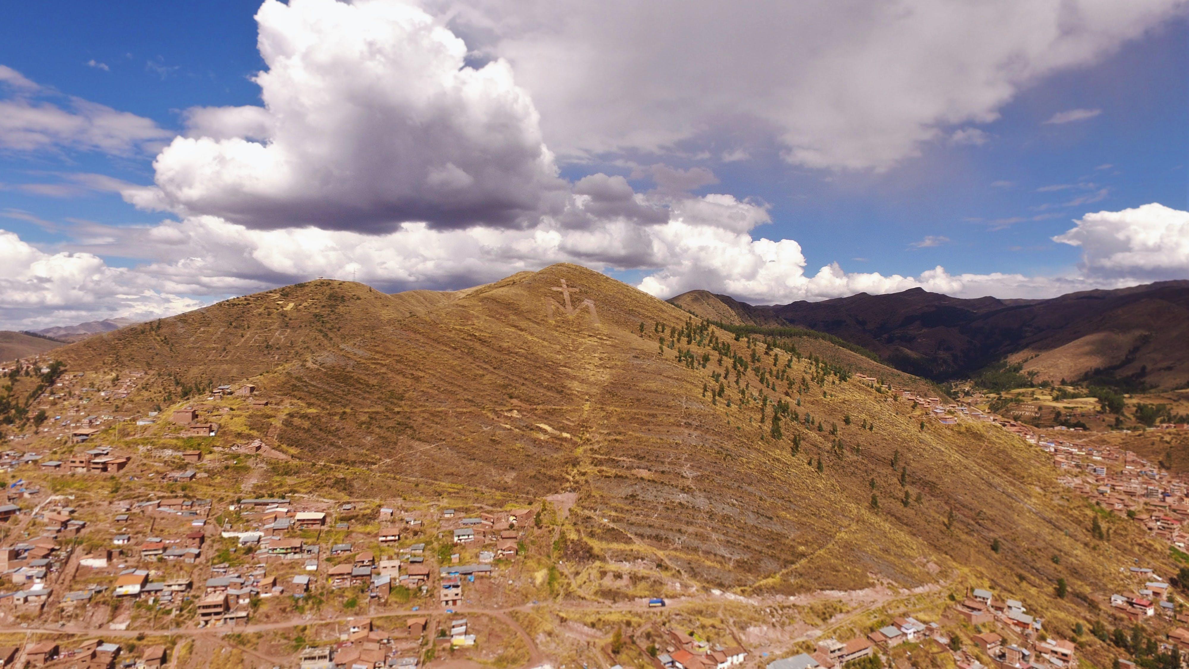 Free stock photo of catholic, drone, marie, mountains