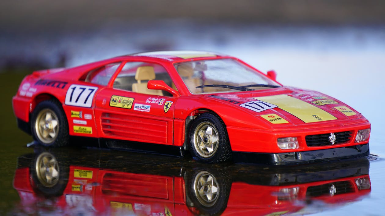 carro de brinquedo, carro esportivo, Ferrari