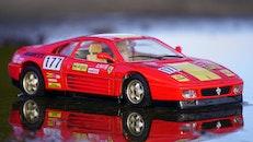 red, sports car, miniature