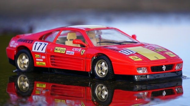 Red Coupe Car Toy