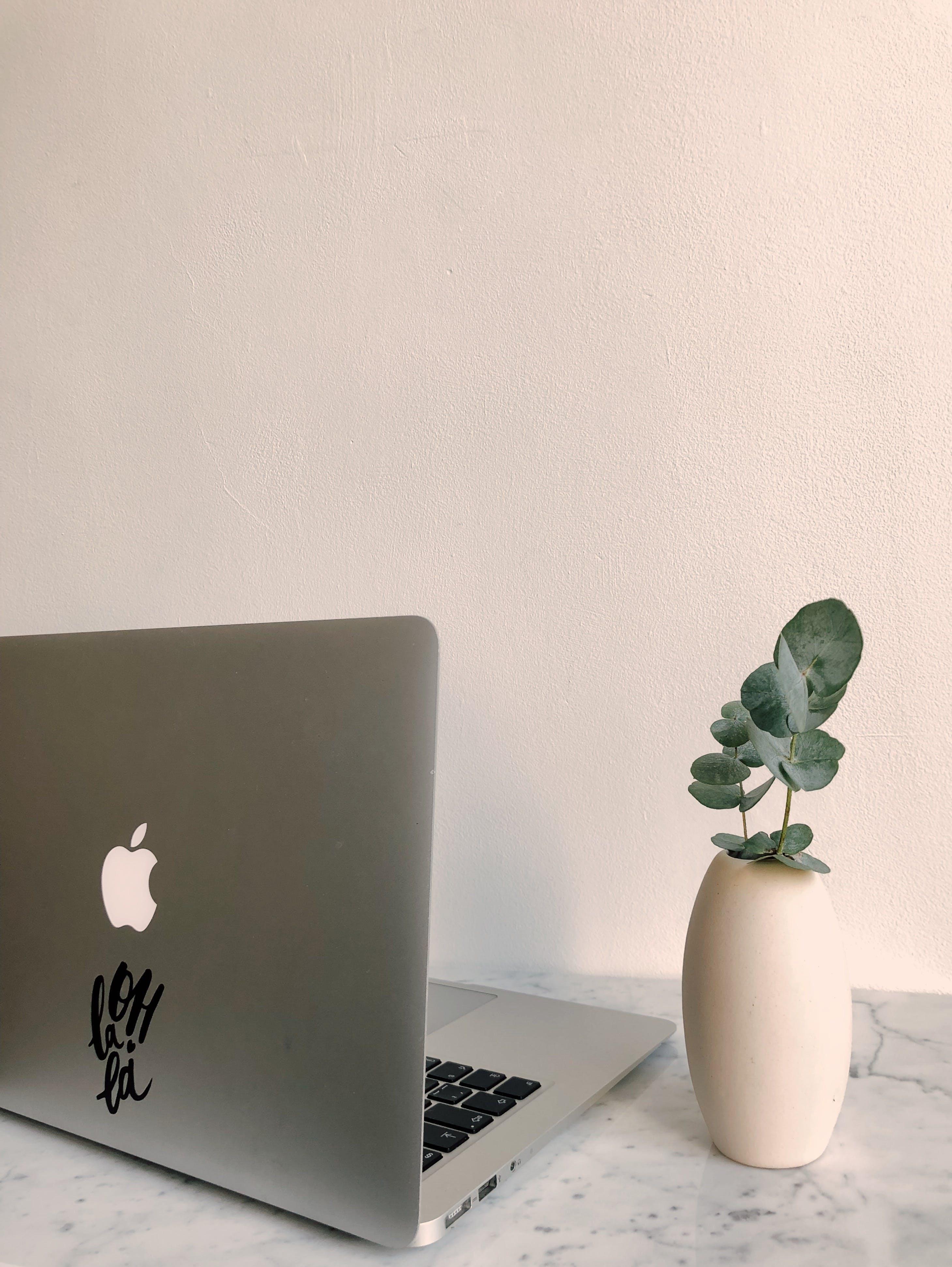 Photo of Macbook on Granite Desk