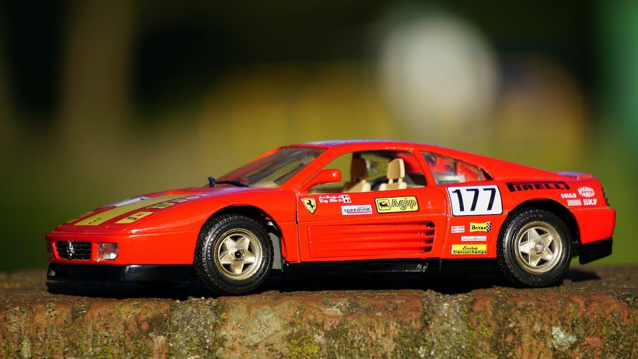 Ferrari, legetøjsbil, miniature