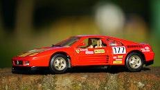 red, miniature, sportscar