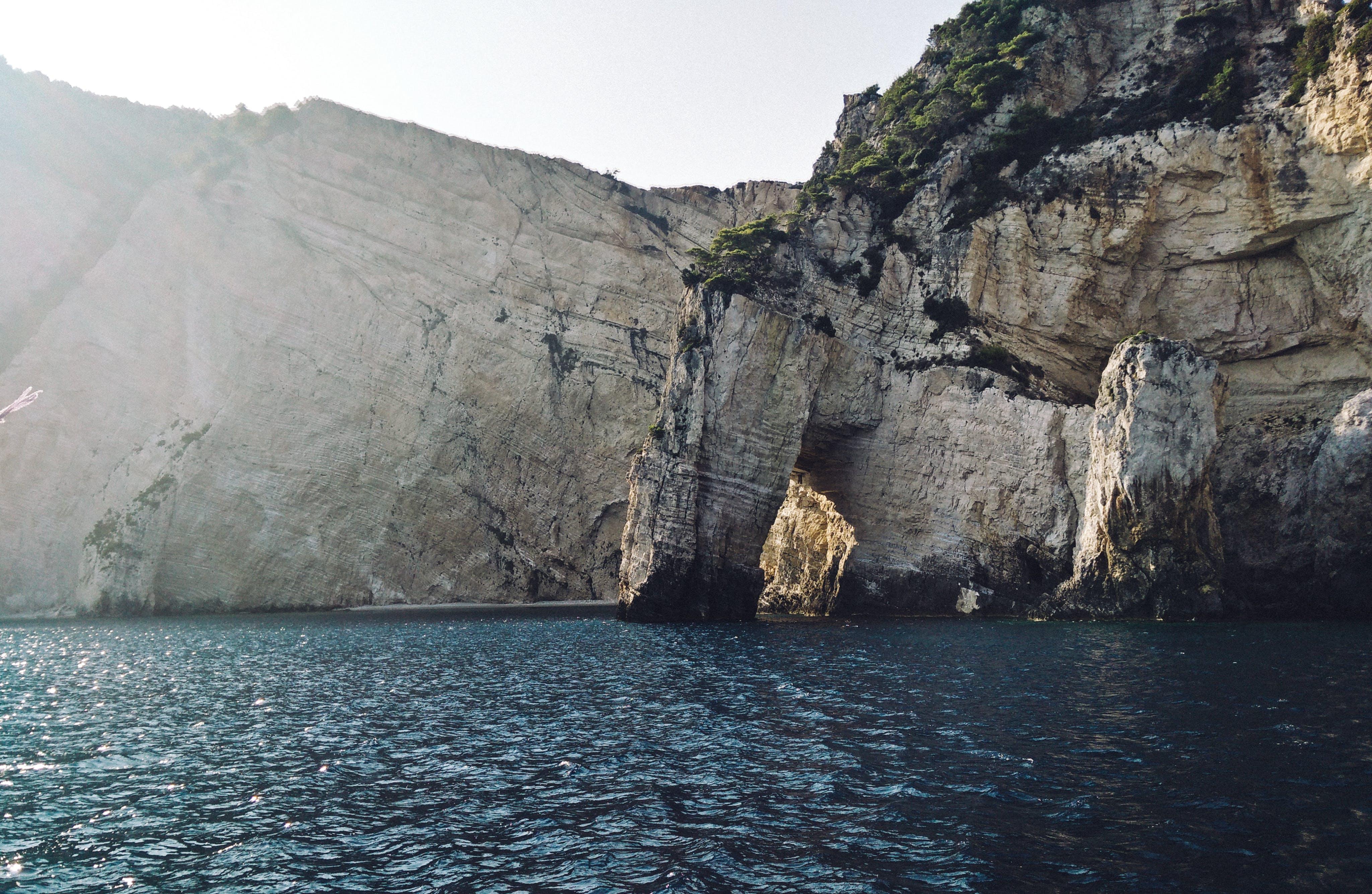 Body of Water Near in Rocks