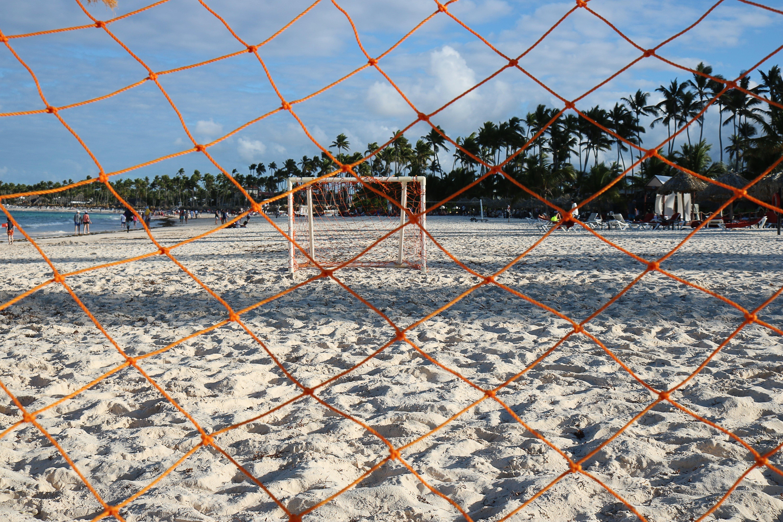 Goalie Net on Seashore