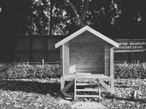 Free stock photo of black and white, hdr, wooden house