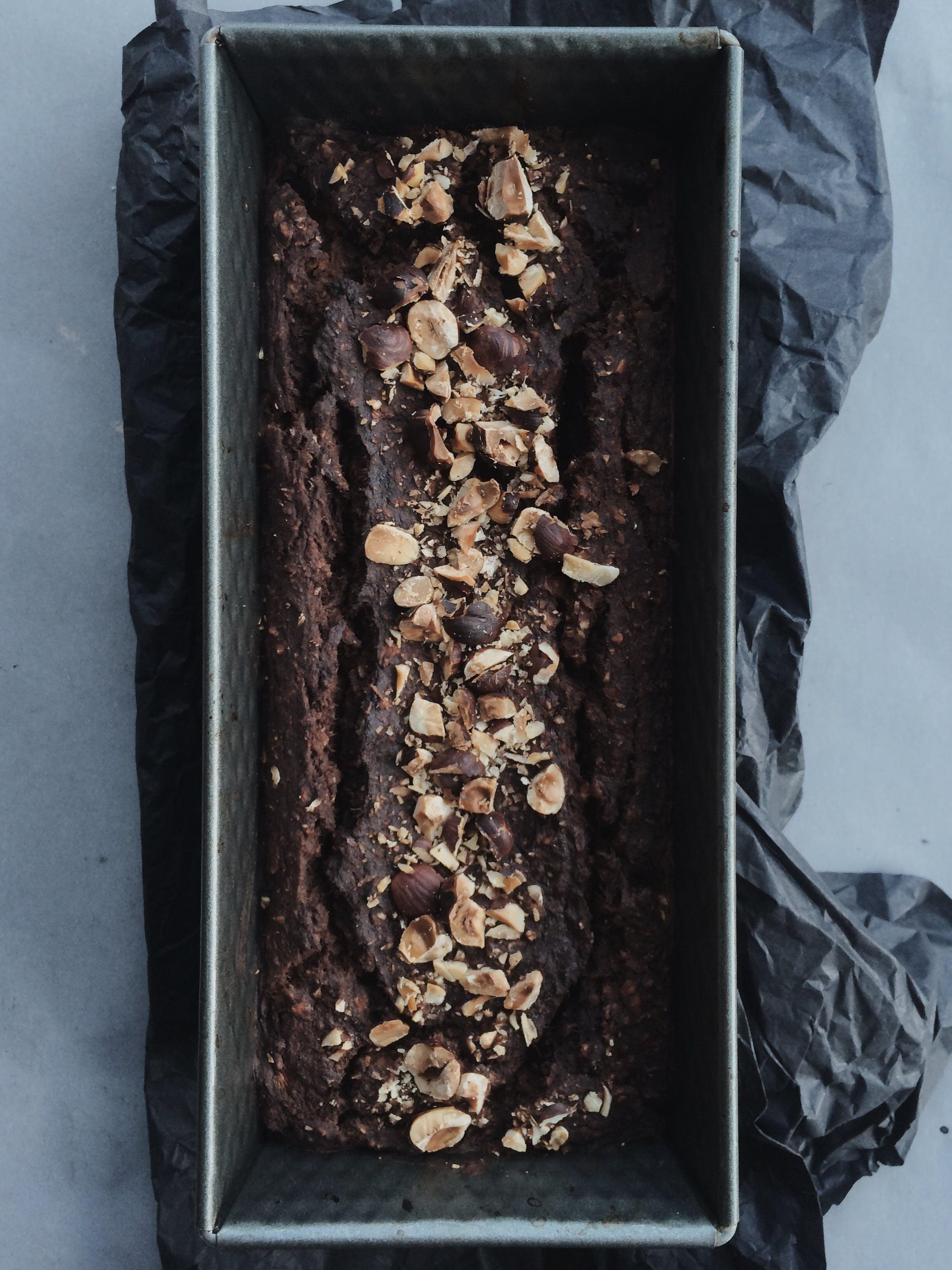 Chocolate Cake in Gray Box