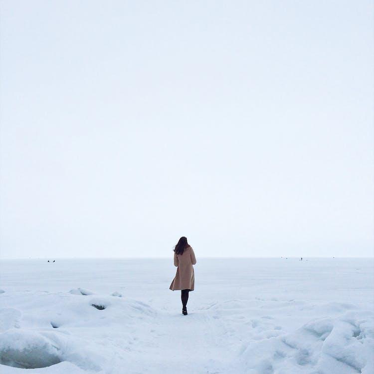 冷, 女人, 雪