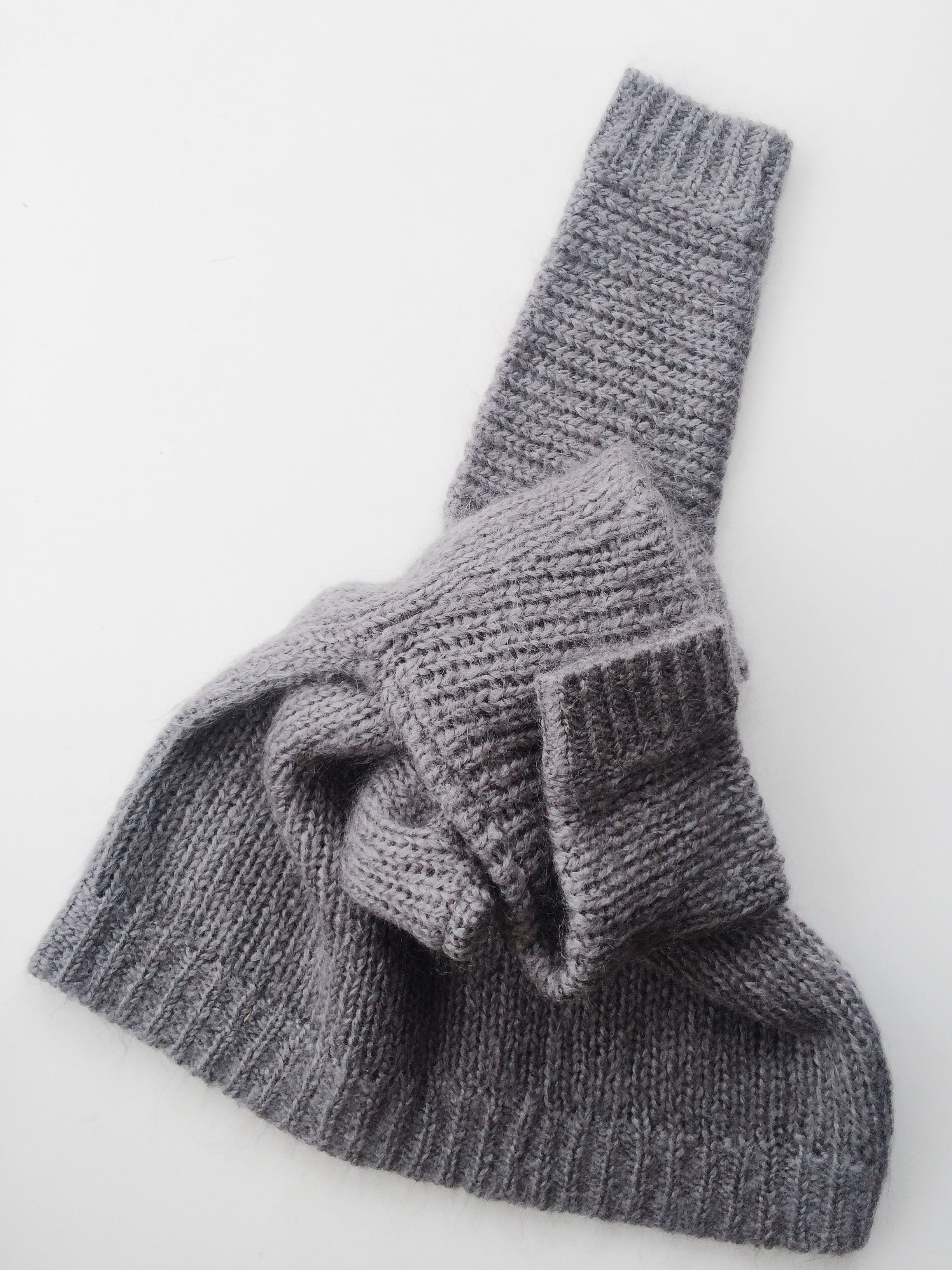 Gray Knitted Textile