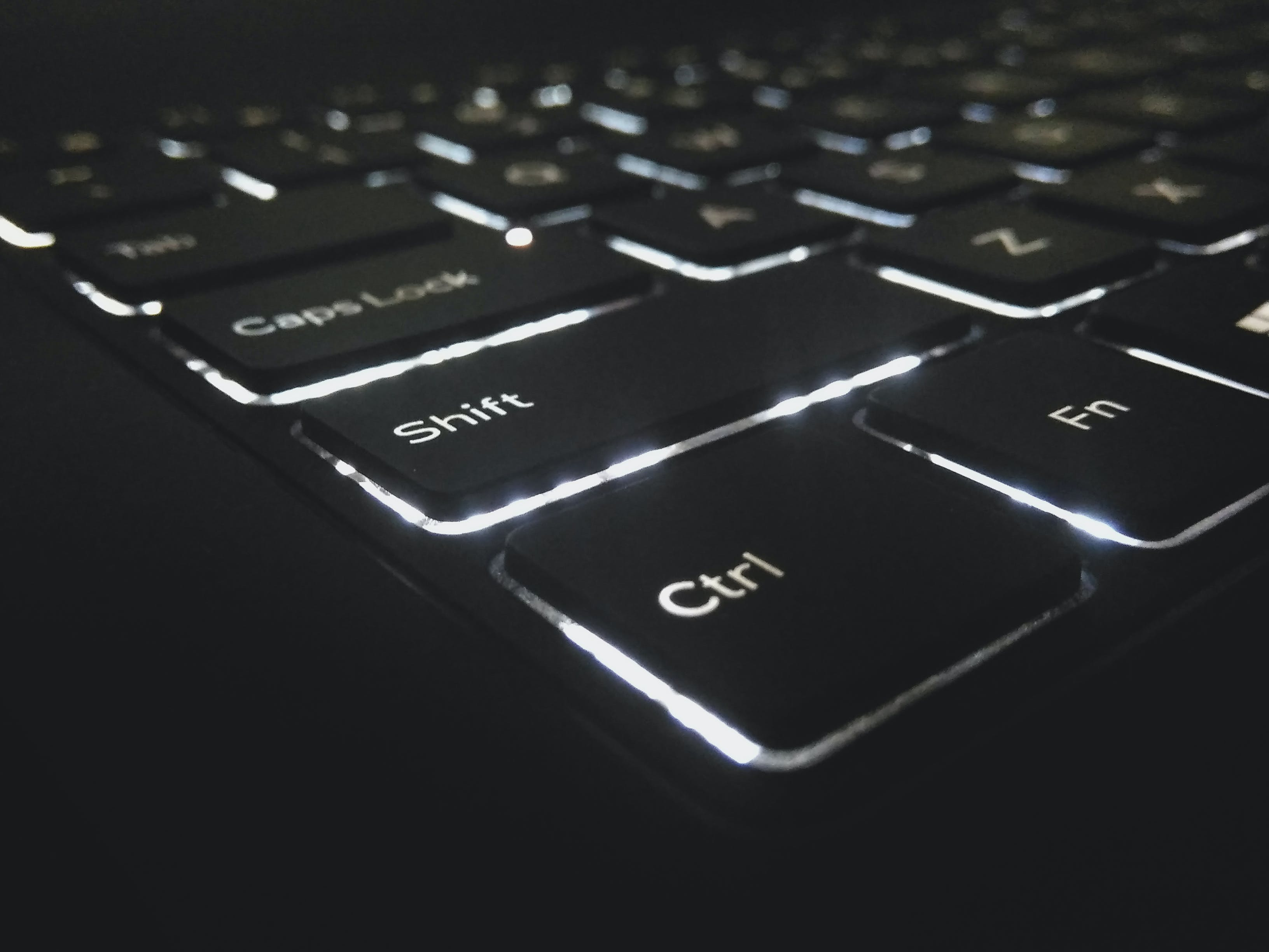 Free stock photo of back light, backlight, backlit, backlit keyboard