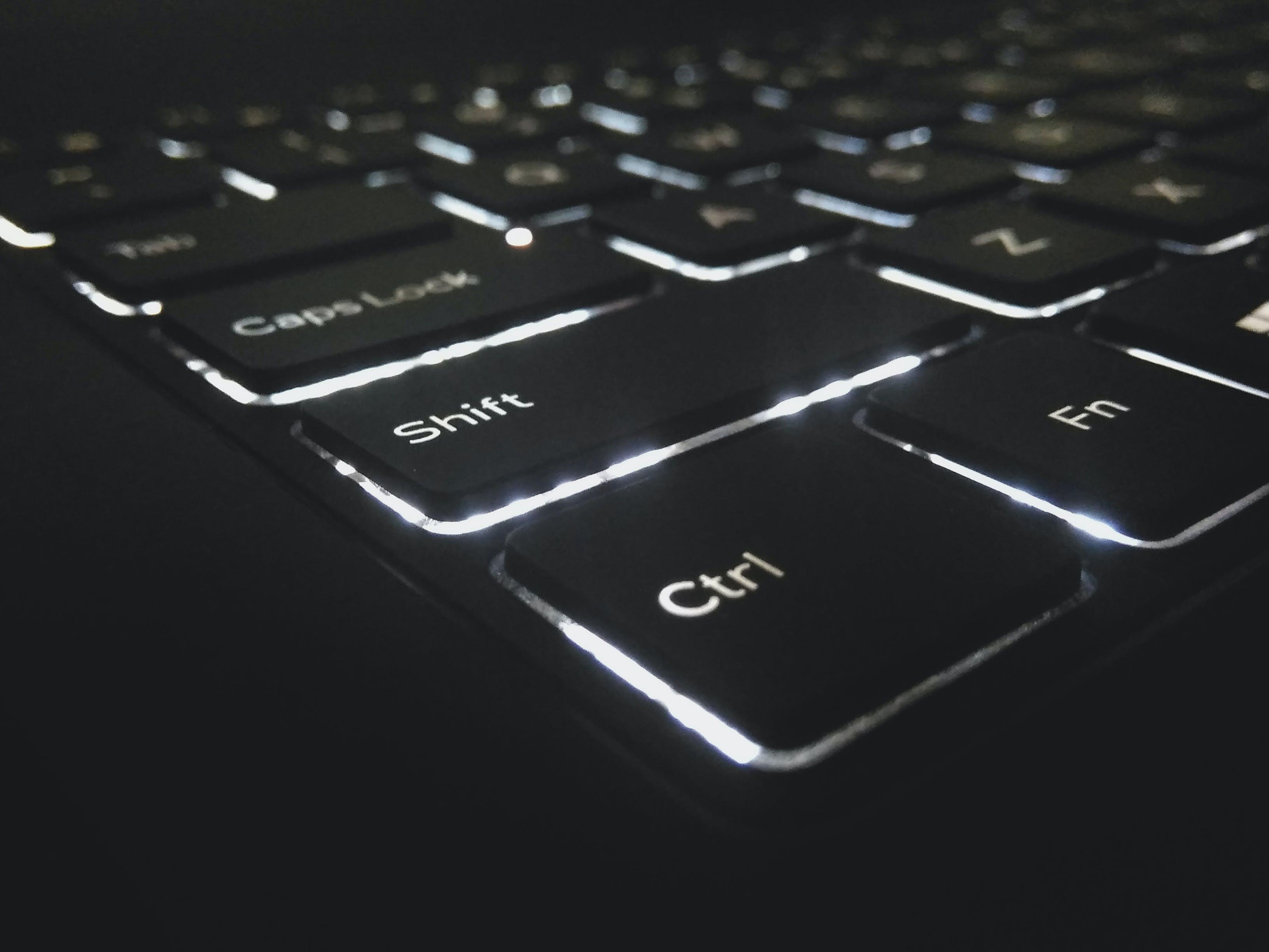 Free stock photo of back light, backlight, backlit, backlit keyboard
