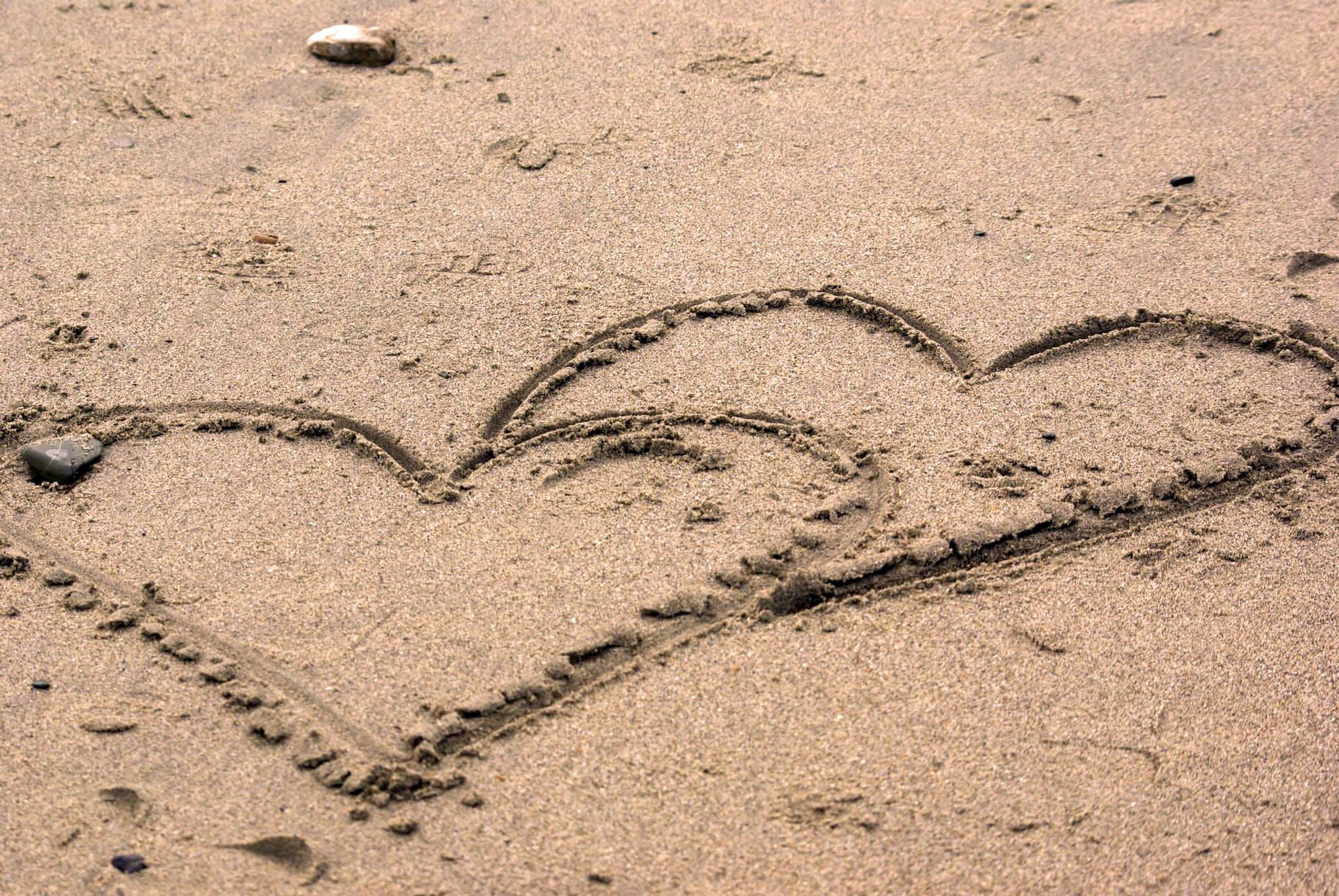 Free stock photo of beach, love, romance, sand