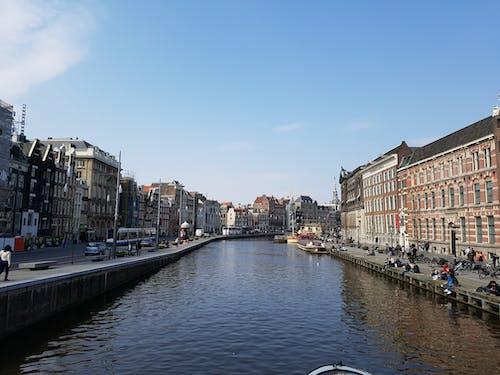 Immagine gratuita di acqua, amsterdam, barche, canale