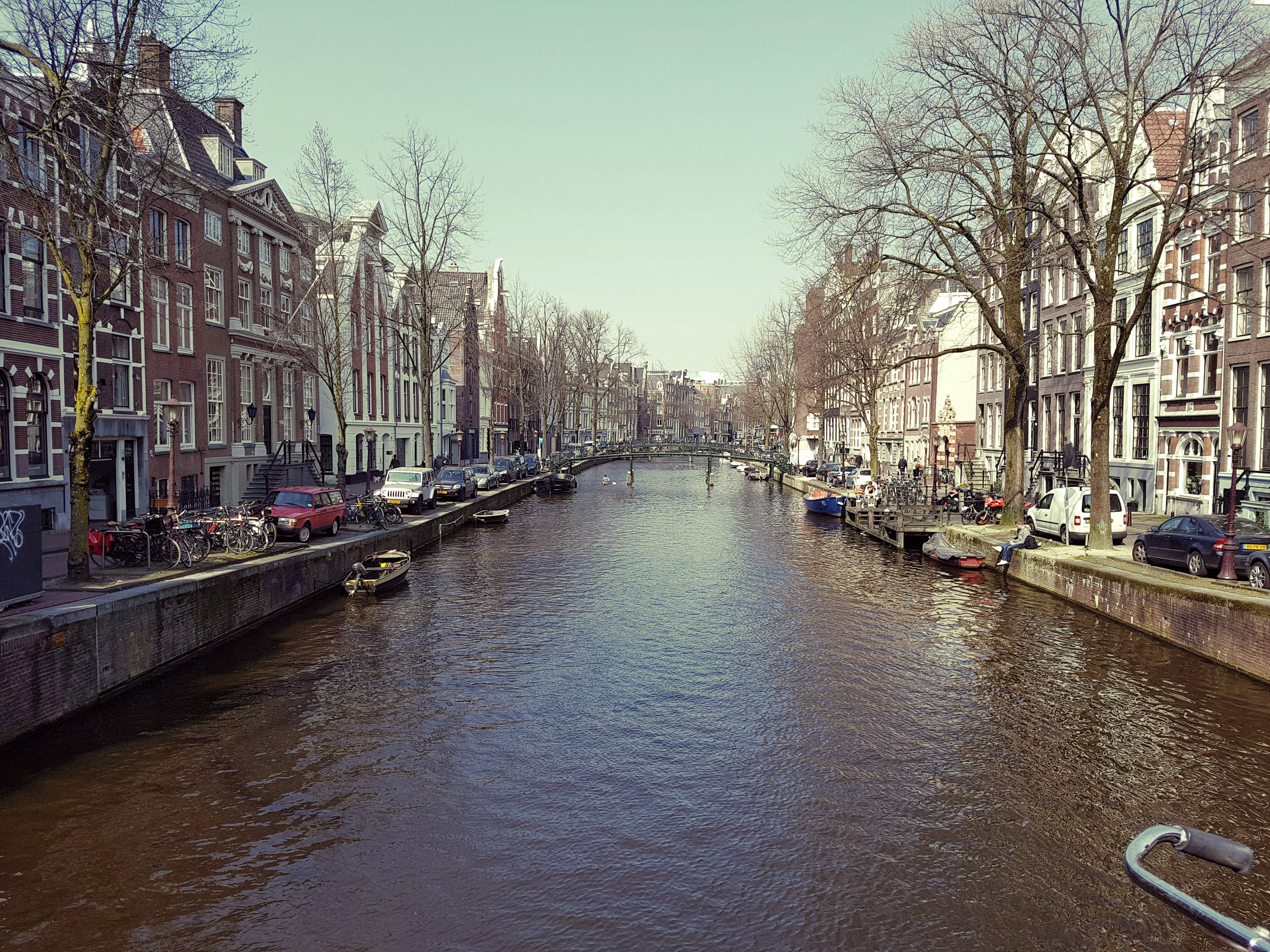Free stock photo of amsterdam, boat, bridge, capital