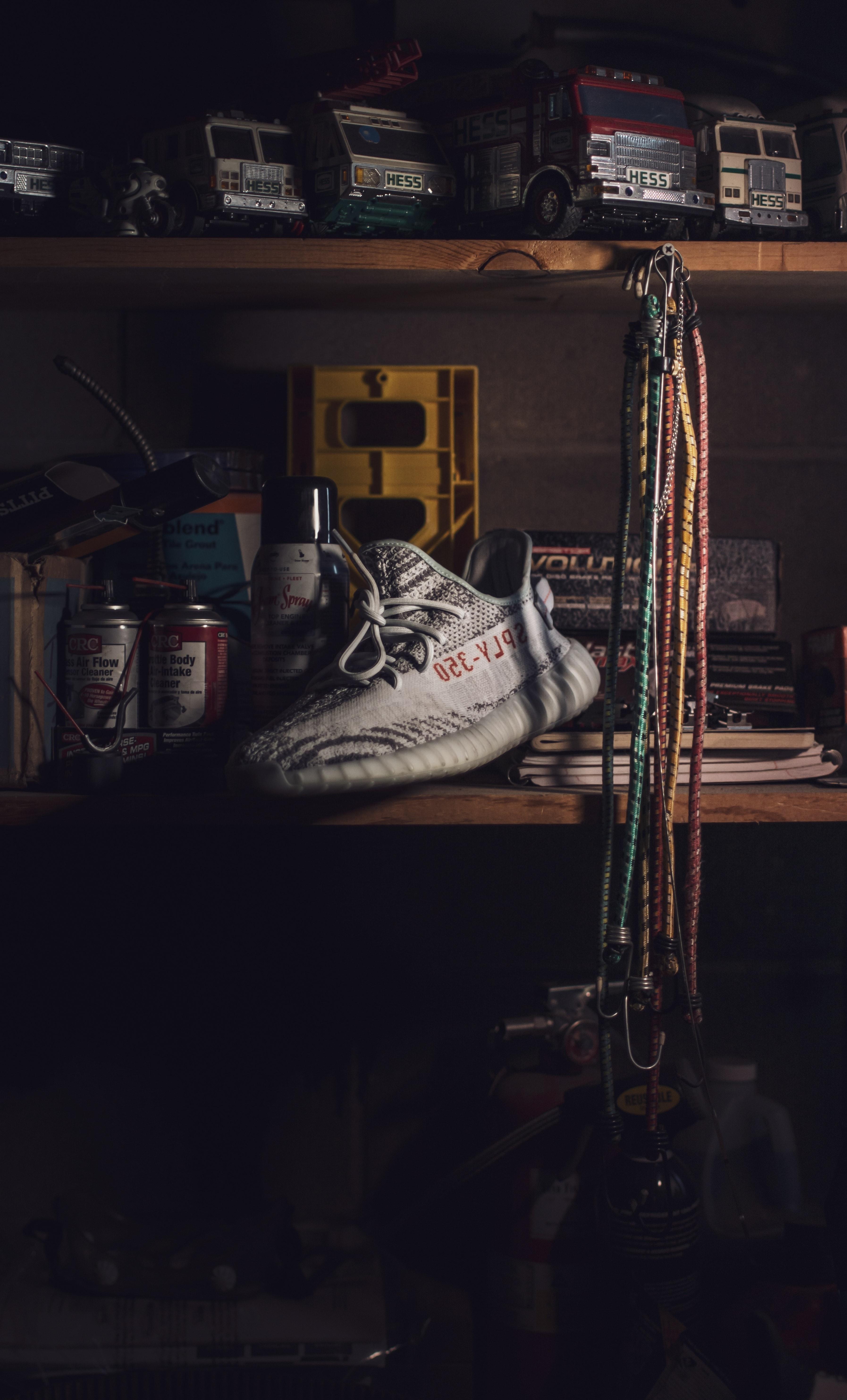 Unpaired Beluga Adidas Yeezy Boost 350 Shoe · Free Stock Photo