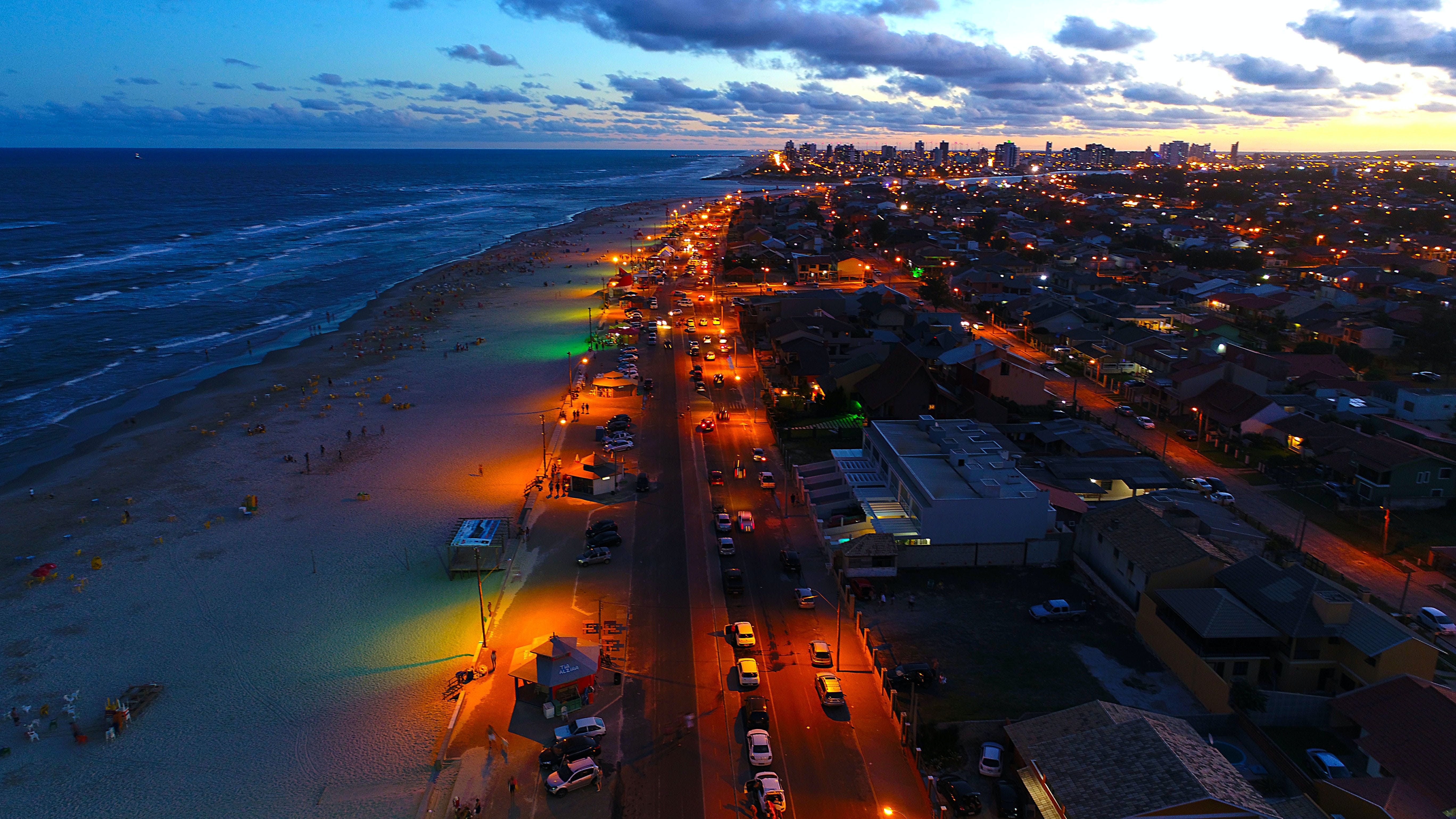 Aerial Photography of City and Seashore