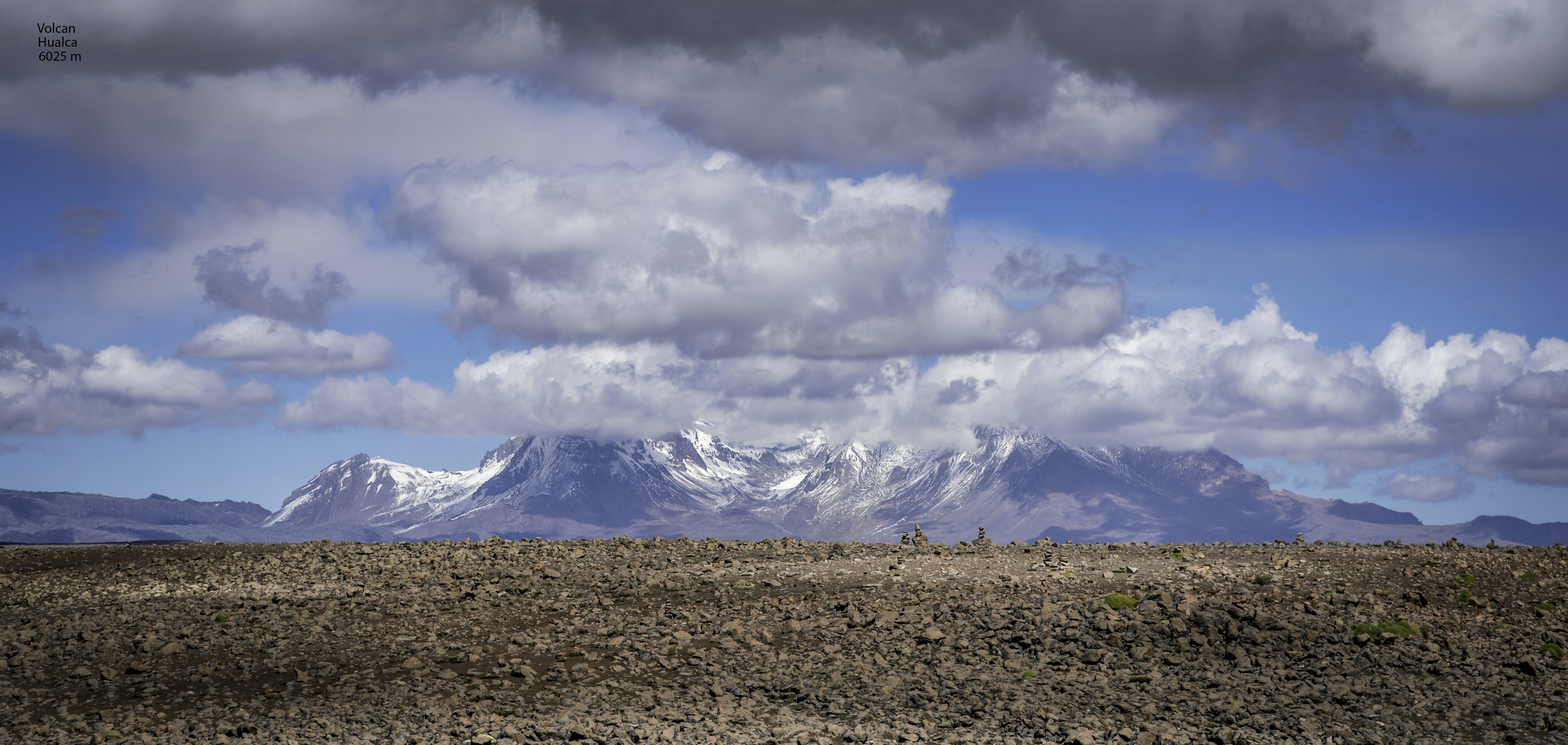 Mountain and Dried Soil