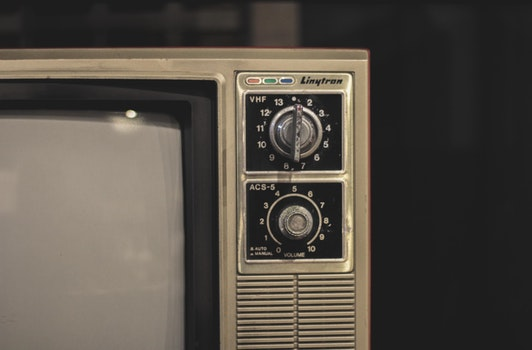 Free stock photo of old, antique, television, tv