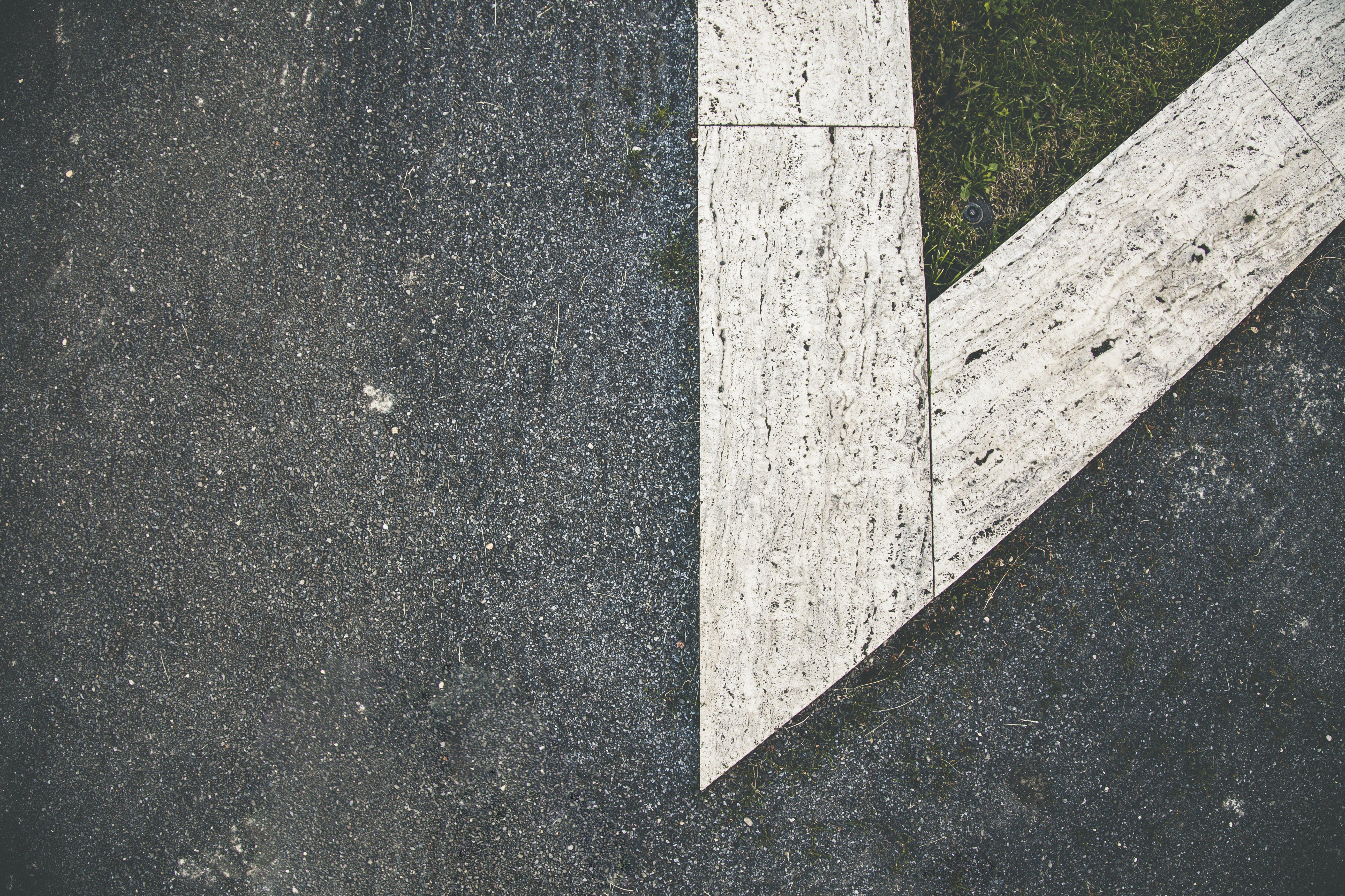 White and Gray Concrete Floor