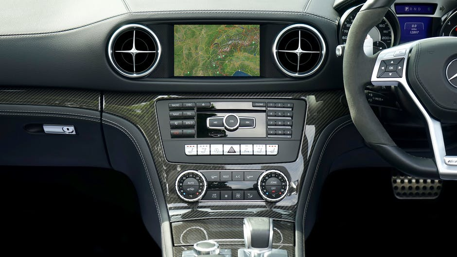 Black and gray car stereo