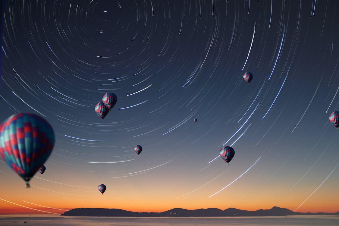Free stock photo of adobe photoshop, air balloon, night photography