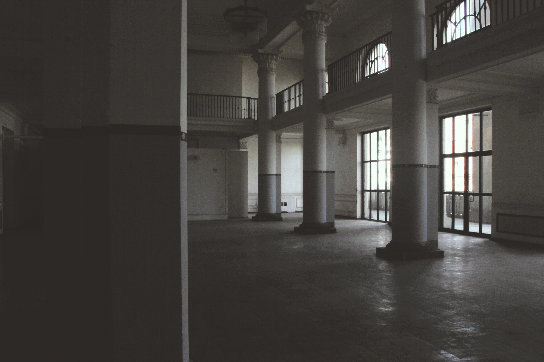Photo of Columns Near Railings