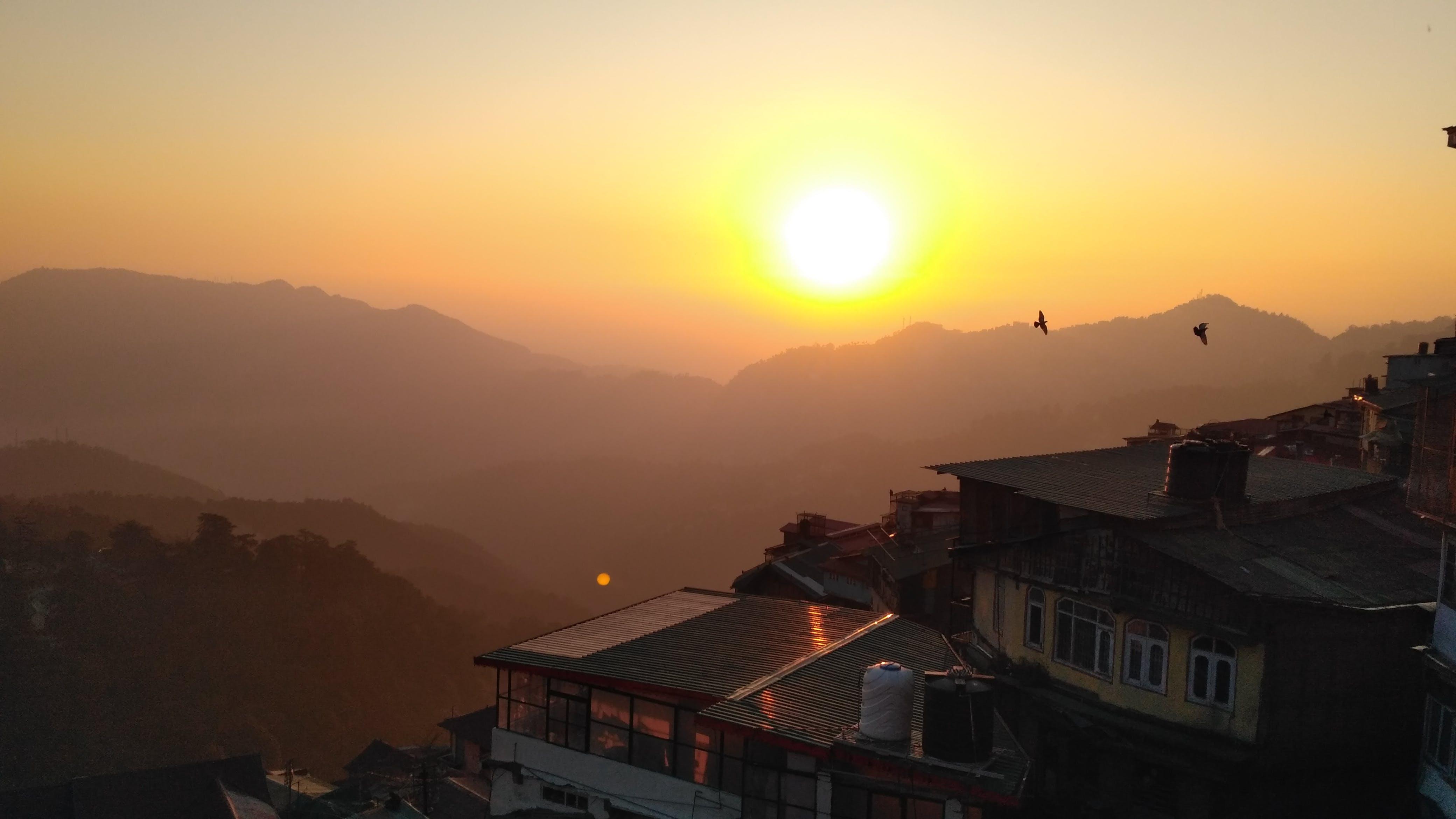 Gratis lagerfoto af bjerg, solnedgang