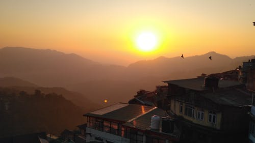 Immagine gratuita di montagna, tramonto