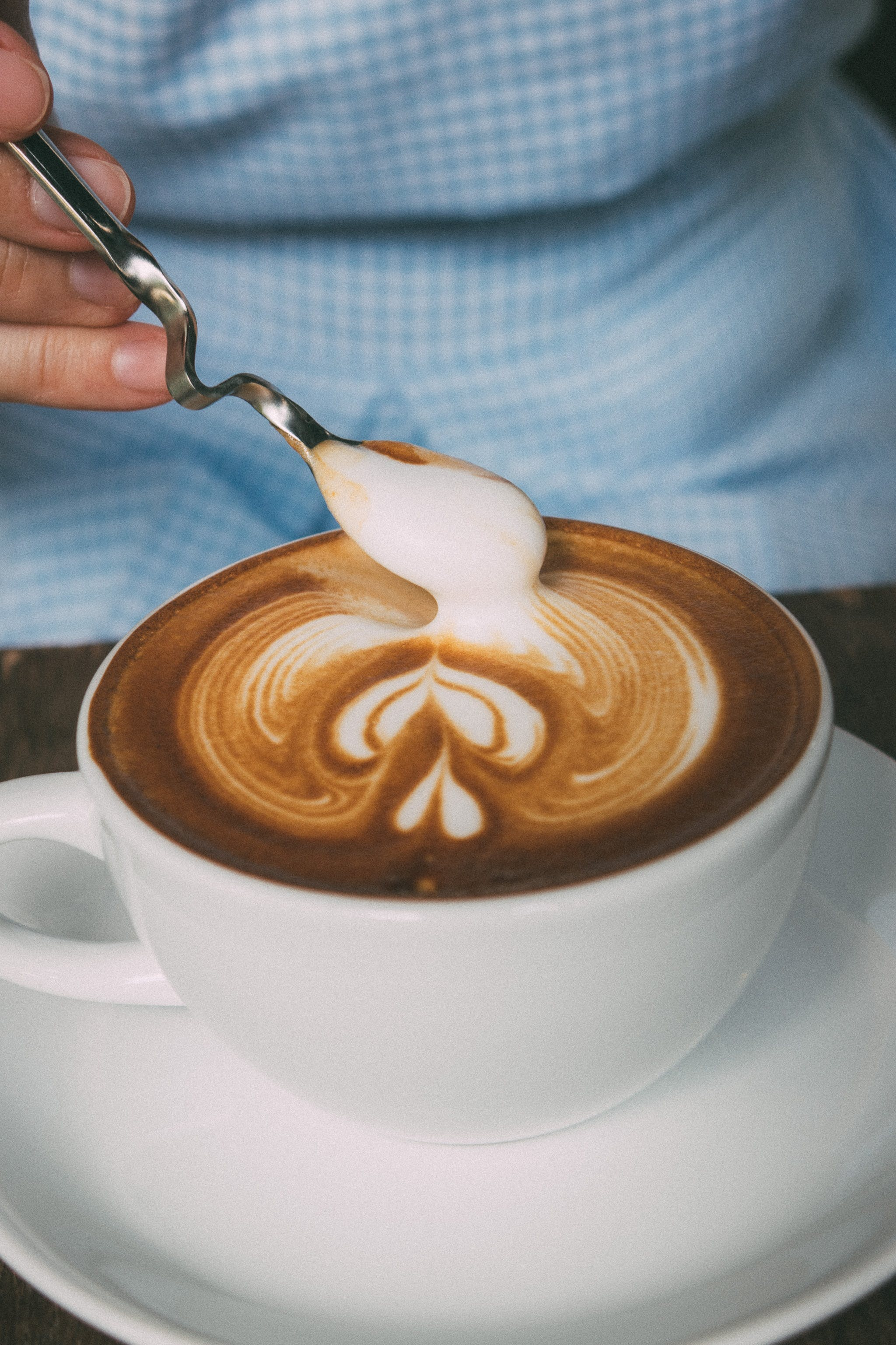 Close-Up Photography of Latte Art