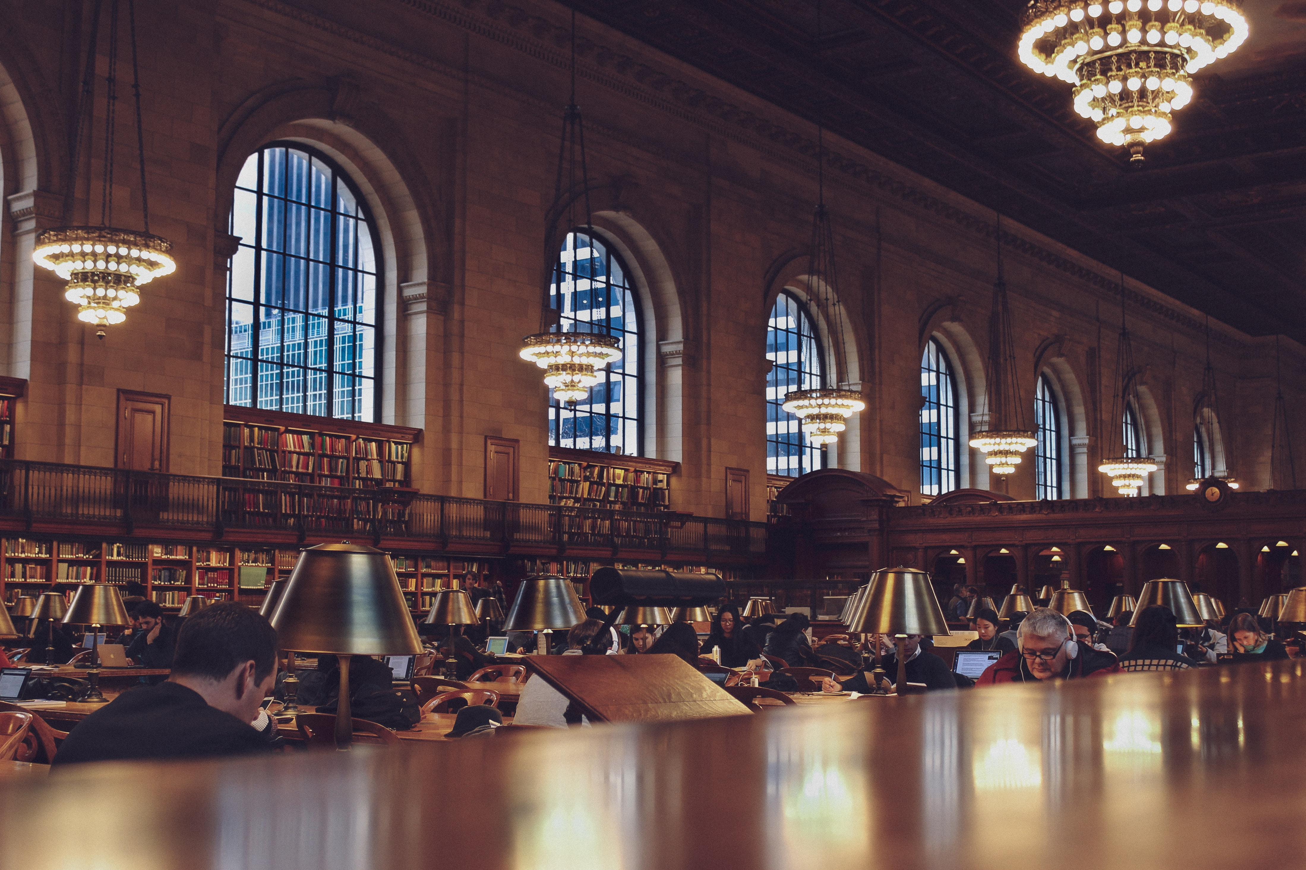 Photo of People in the Library