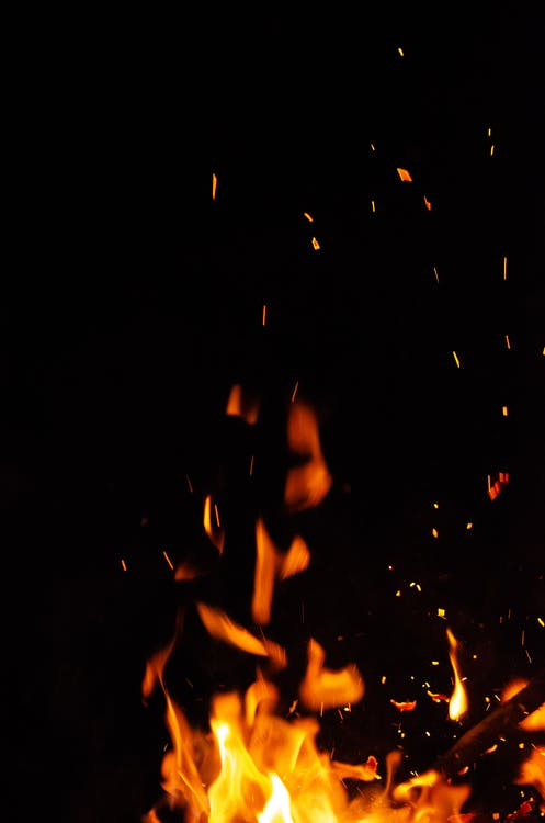 Photography of Fire in Dark Area