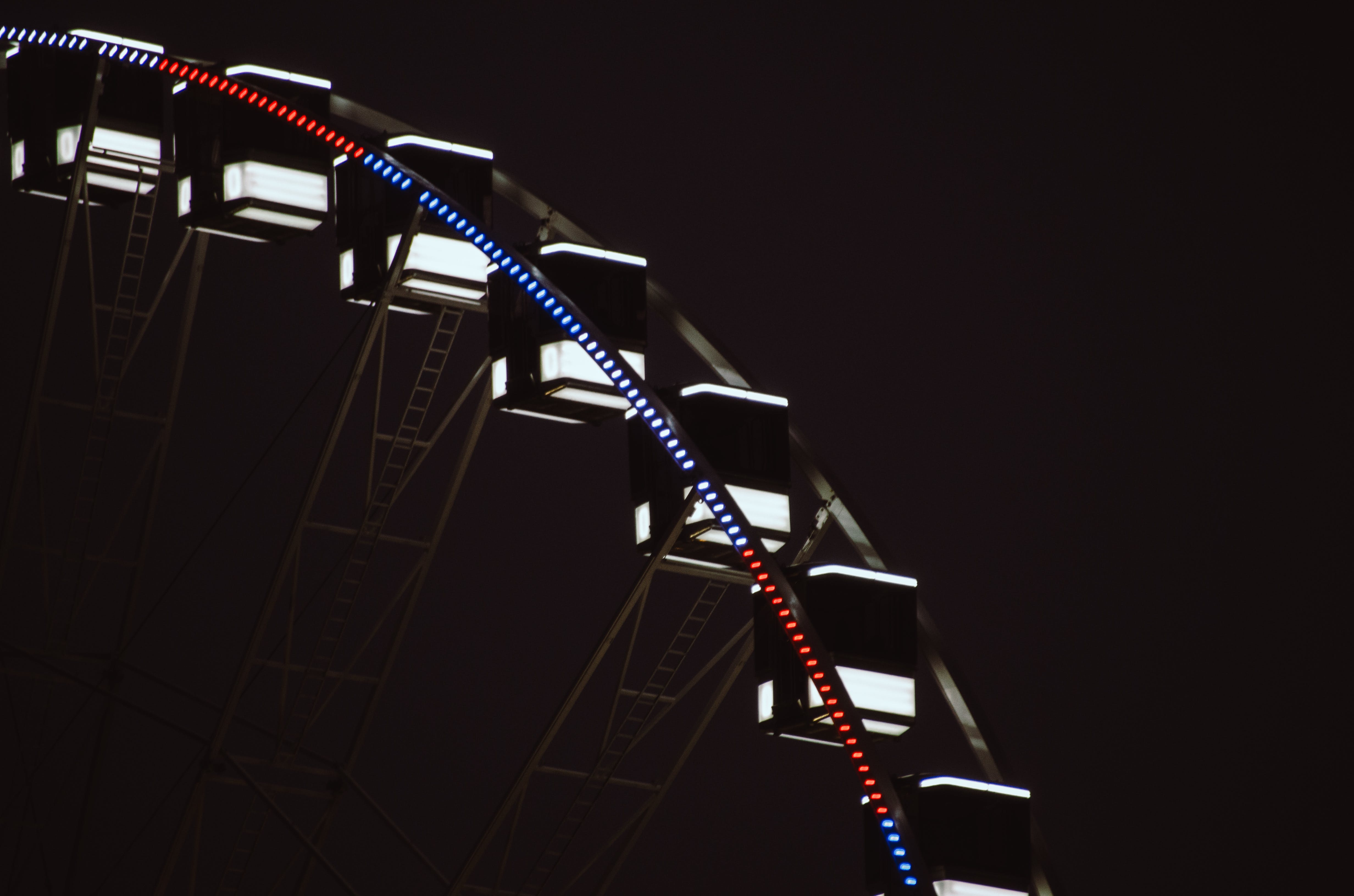 Photography of Ferris Wheel at Night