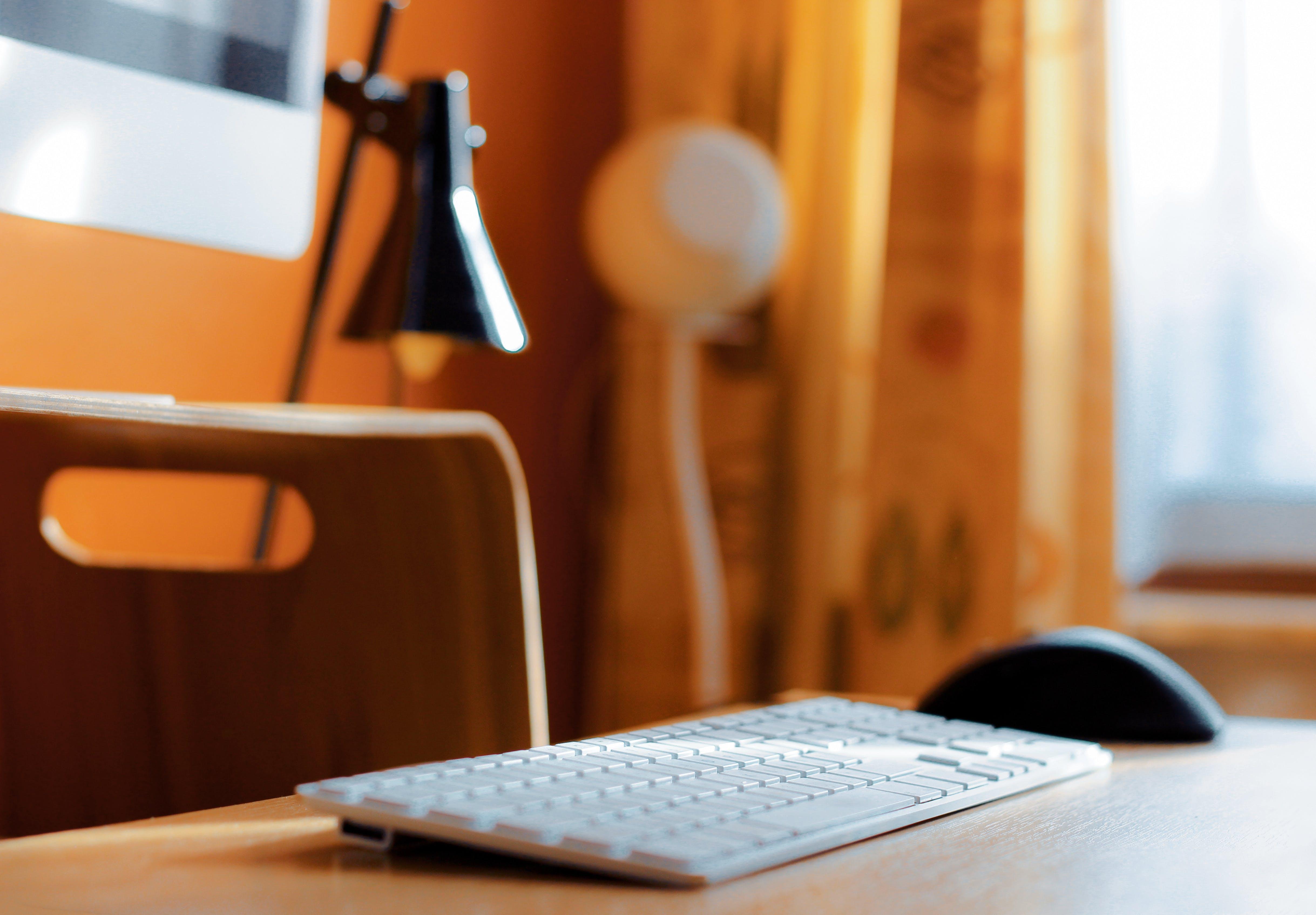Close-Up Photography Wireless Keyboard