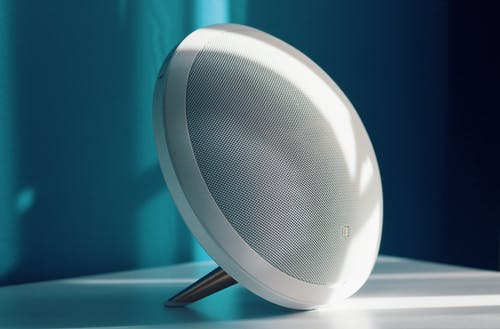 Photo of White Portable Bluetooth Speaker