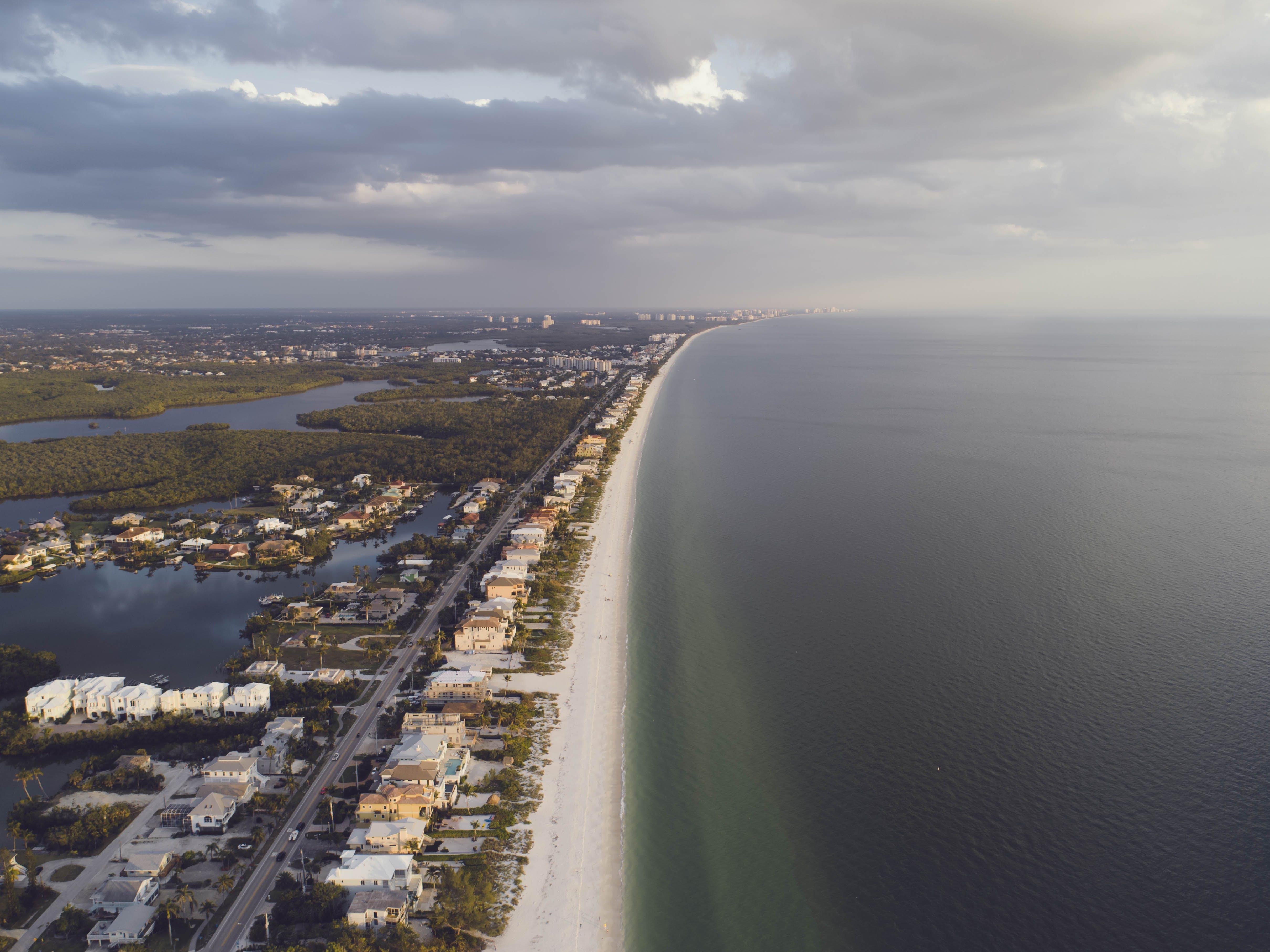 Bird's Eye View of Coastline